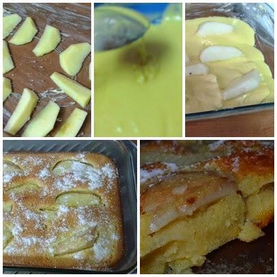 tarta de manzana y pera paso a paso