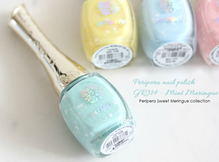 Peripera nail polish GR314 - Mint Meringue bottle
