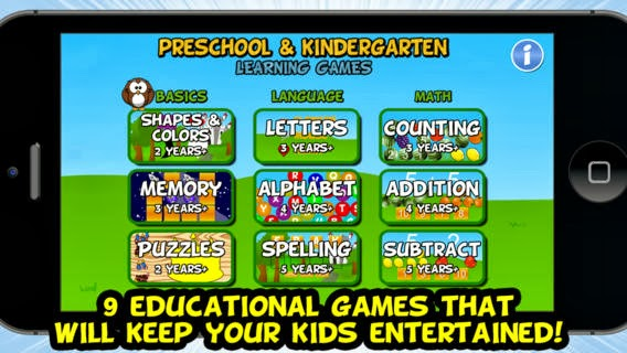 PRESCHOOL AND KIDERGARTEN GAMES