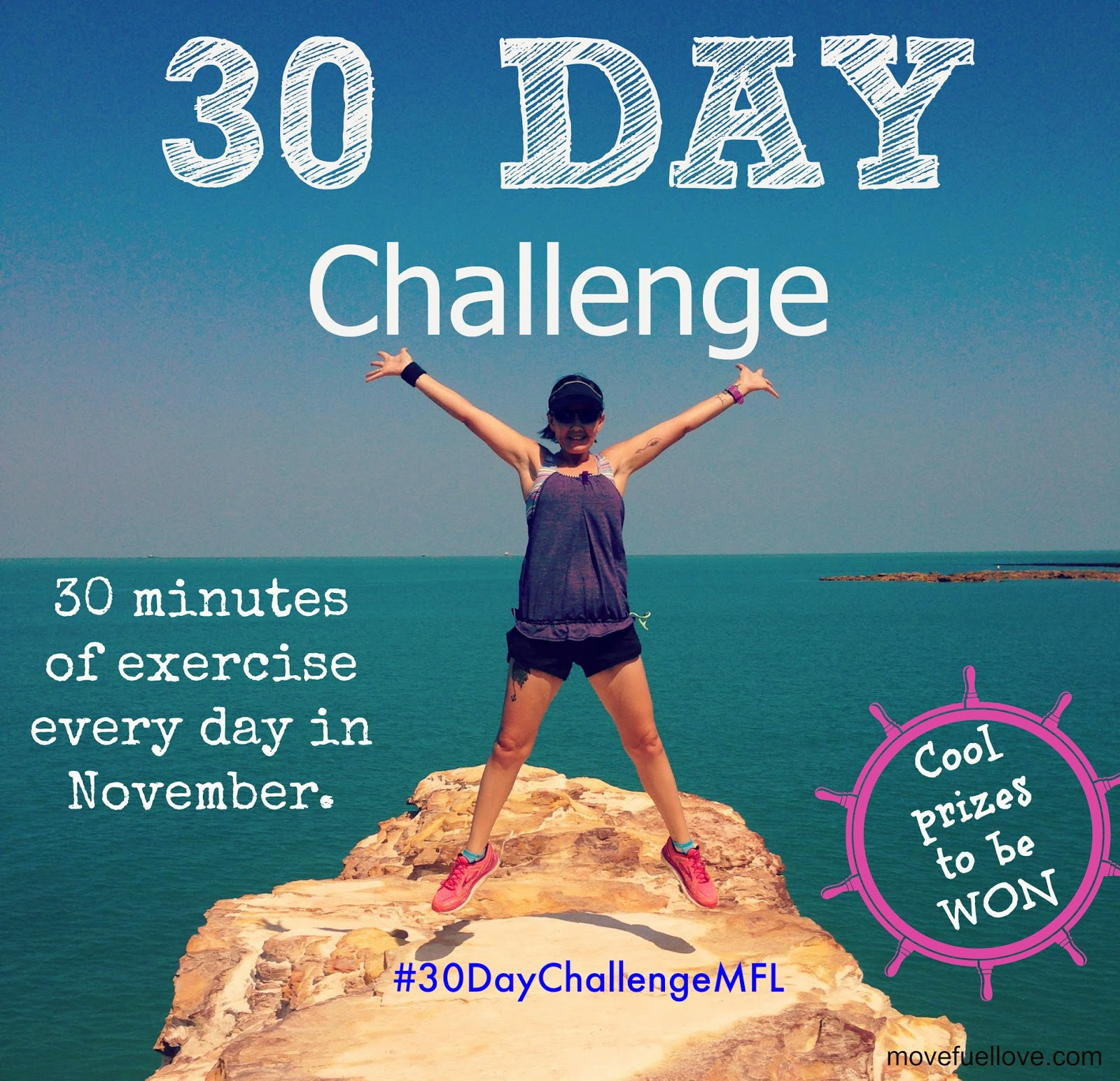 30 day challenge, fitness, health, wellbeing, nutrition, exercise, running, walking, swimming, exercising, giveaway, competition