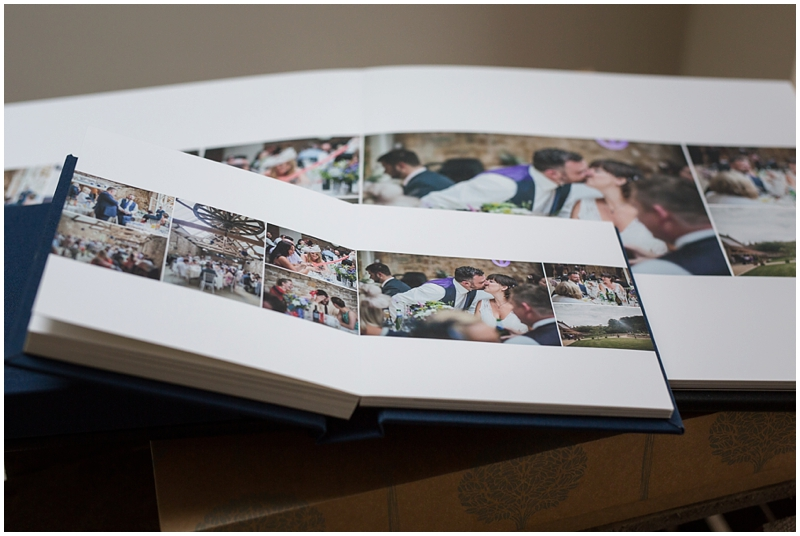 Mini parent copies of a wedding album