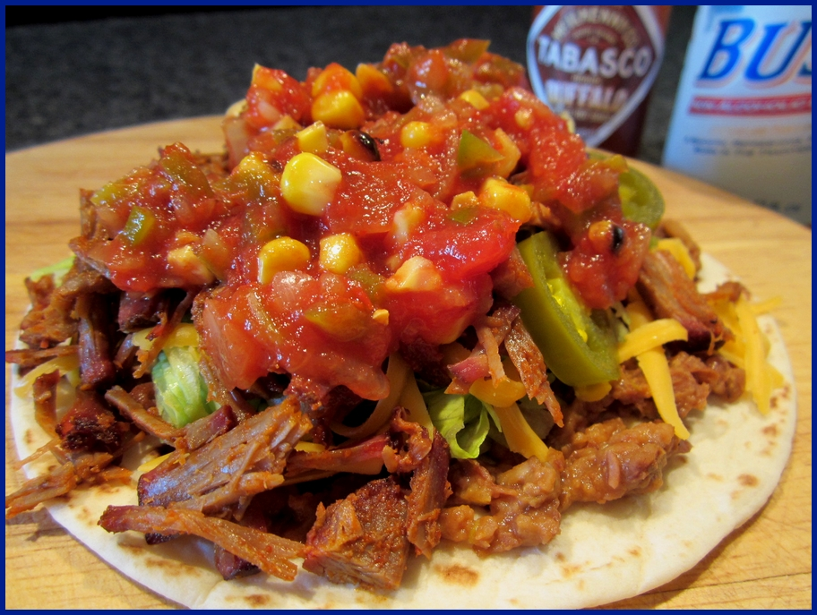 Fat Johnny's Front Porch: Smoked/Shredded Beef Soft Tacos
