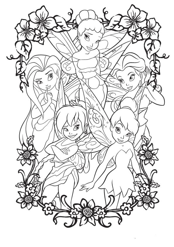 Dibujo de campanilla y sus amigas para colorear | Dibujos para ...