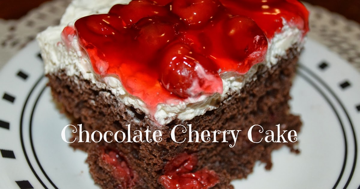 Chocolate Cake With Cherry Pie Filling And Cream Cheese