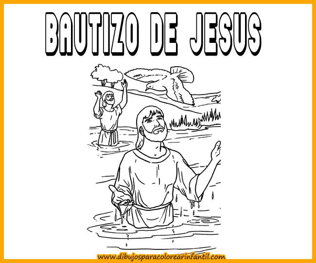 Perfecto Colorear Juan El Bautista Y Jesús Foto - Páginas Para ...