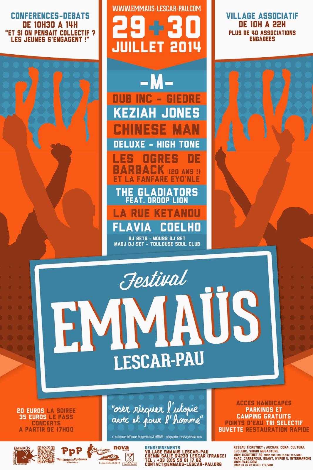 Le Festival Emmaüs 2014 de Pau Lescar 64