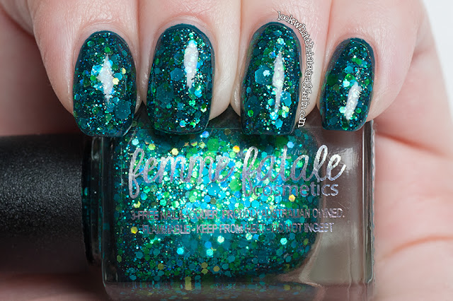 Femme Fatale Cosmetics Abyssal Reflections nail polish swatch macro