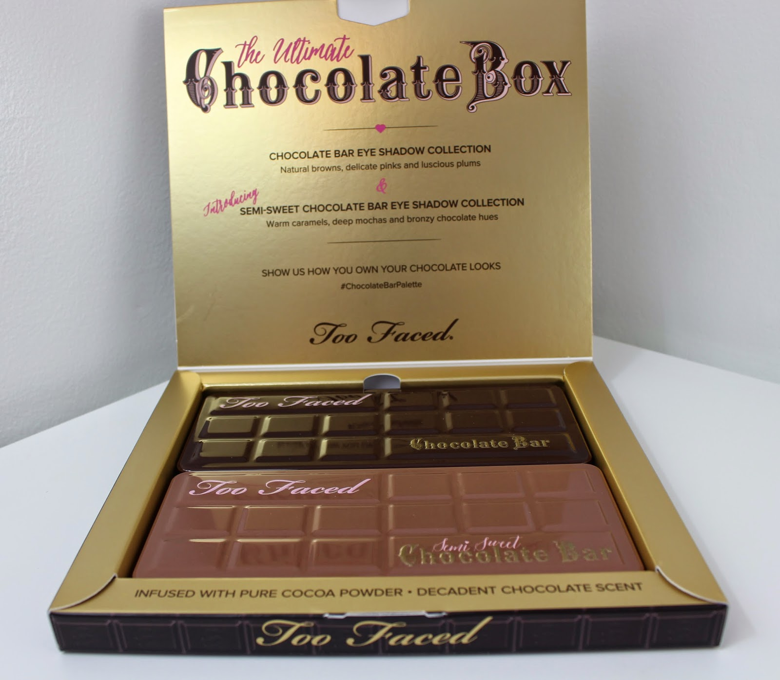 Too Faced Semi-Sweet Chocolate Bar Palette: Review and Swatches ...