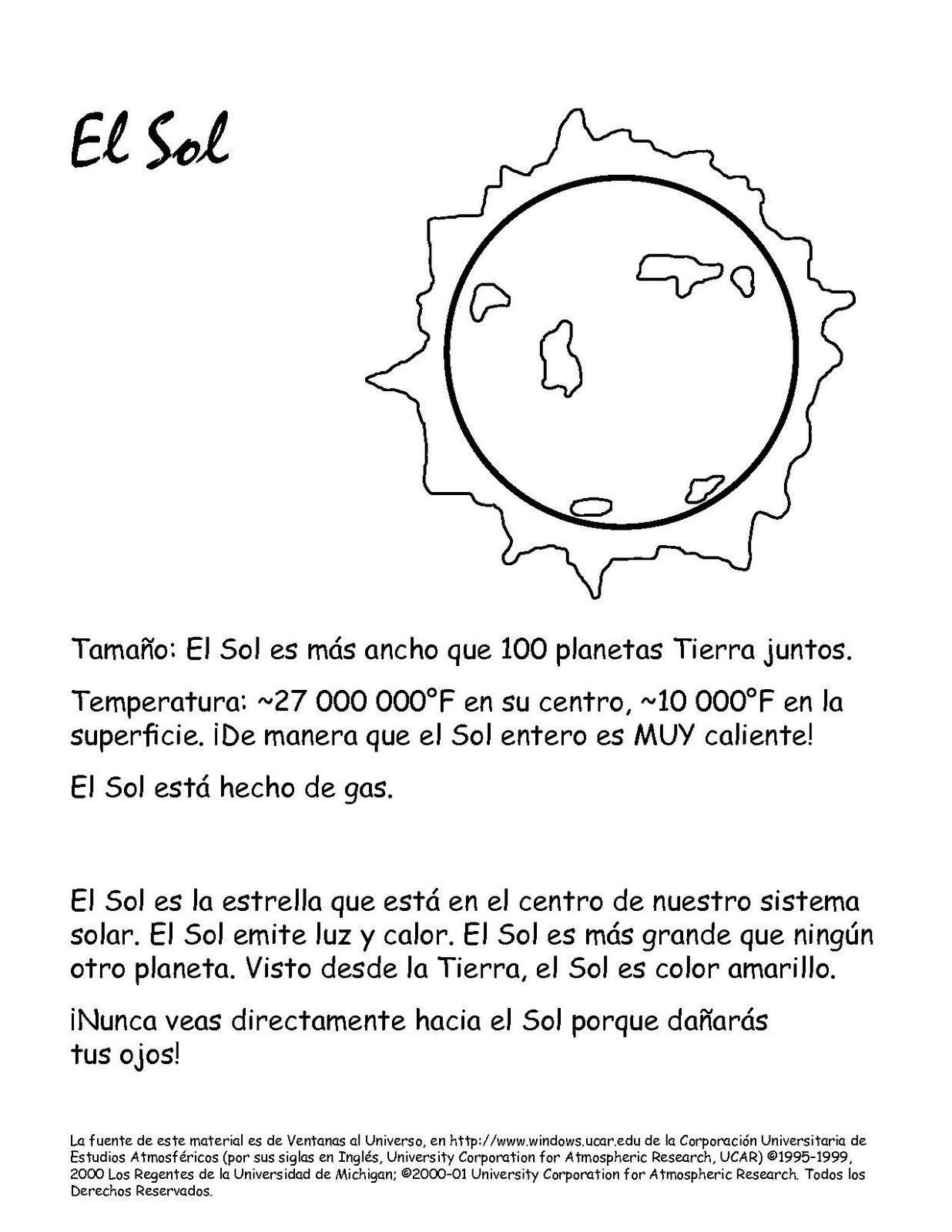 Colorear EL SOL