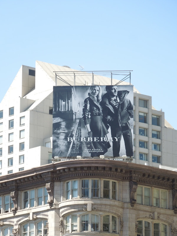 Burberry FW 2012 billboard San Francisco
