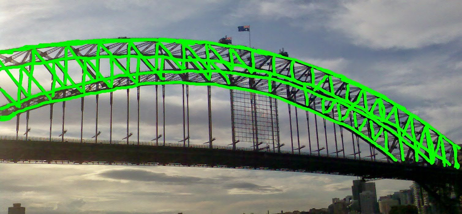 Harbour Bridge Flourescent Green