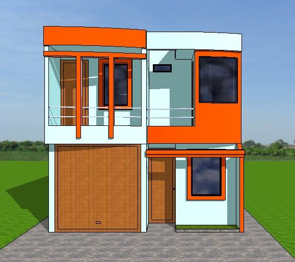 Fachadas y casas casas con frentes de seis metros for Disenos de fachadas para casas pequenas