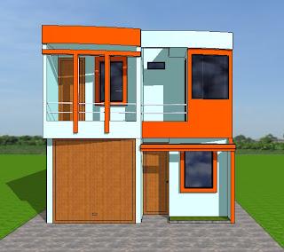 Fachadas y casas casas con frentes de seis metros for Modelos fachadas para frente casa