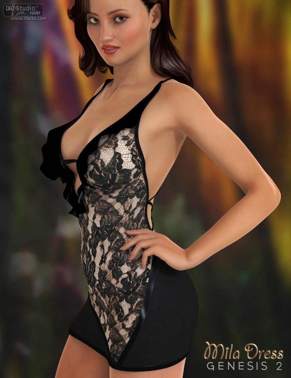Mila Dress for Genesis 2 Female