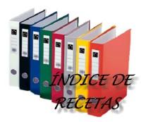 ÍNDICE DE RECETAS