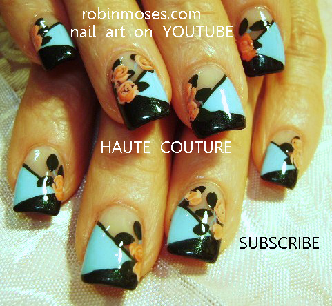 Robin moses nail art hot neon pink and black nails mint green hot neon pink and black nails mint green nails with roses sky blue nails with roses gothic emo beautiful summer nail art designs prinsesfo Choice Image