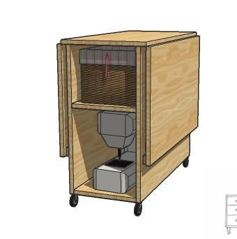 Zona De Manualidades Mueble Para Maquina De Coser