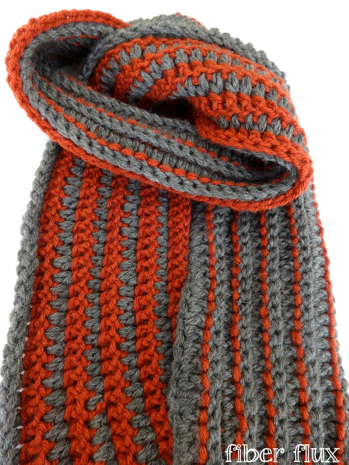 Free Crochet Patterns For A Man s Scarf : Fiber Flux: Free Crochet Pattern...The Every Man Scarf