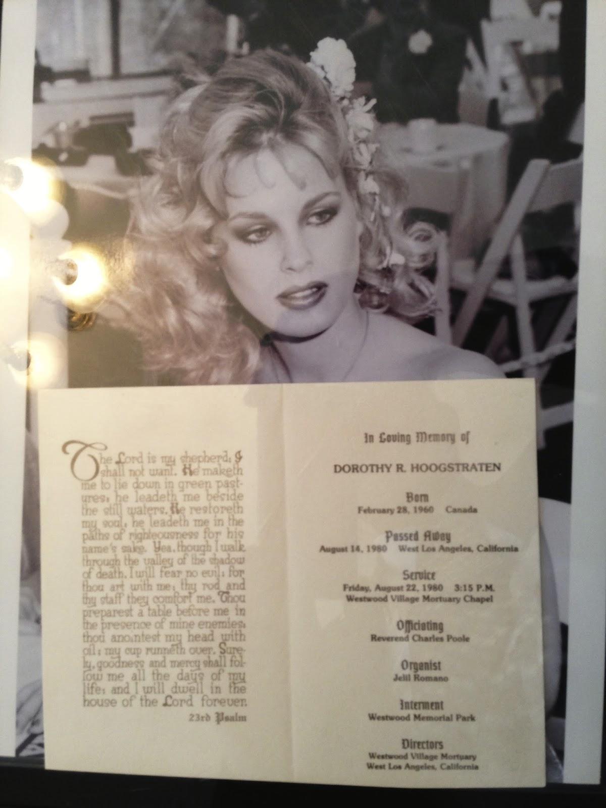 Dorothy Stratten Funeral Folder