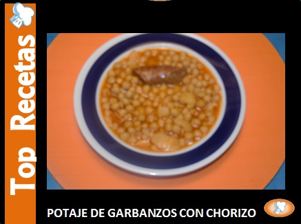 RECETA: POTAJE GARBANZOS