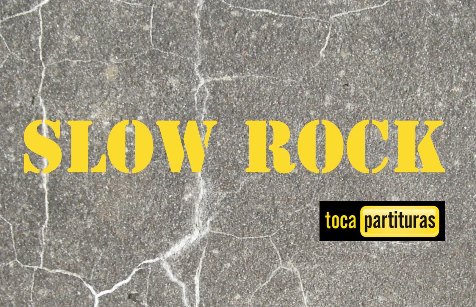 Slow Rock Partitura de Batería fácil para principiantes Rock Lento Sheet Music for Battery and Drums