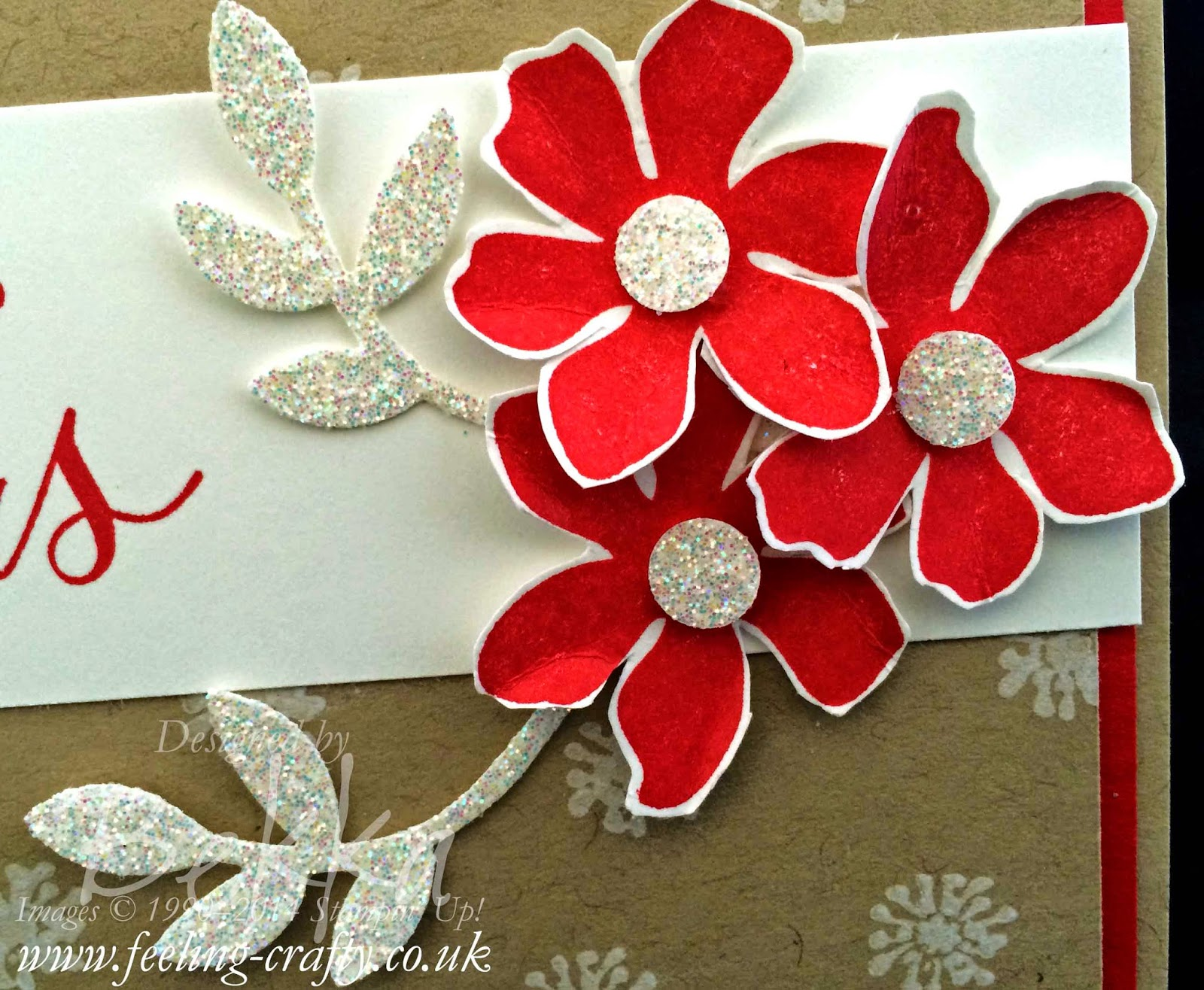 Make your own Chritsmas Cards this year - this one uses Stampin' Up! supplies which you can get here