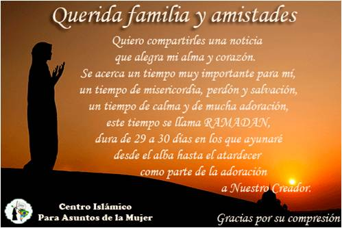 MENSAJE DE RAMADAN PARA LA FAMILIA Y AMISTADES NO MUSULMANAS ...