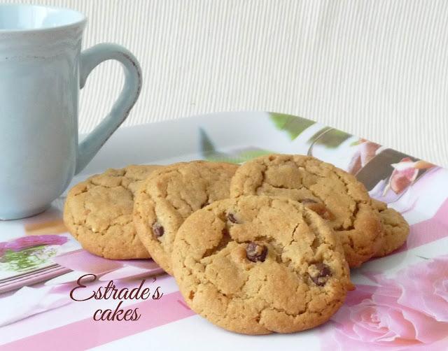 Receta de galletas con chocolate y crema de cacahuete 4