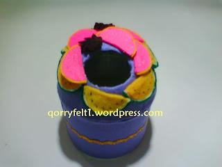 tempat tisu hias flanel bentuk bulat