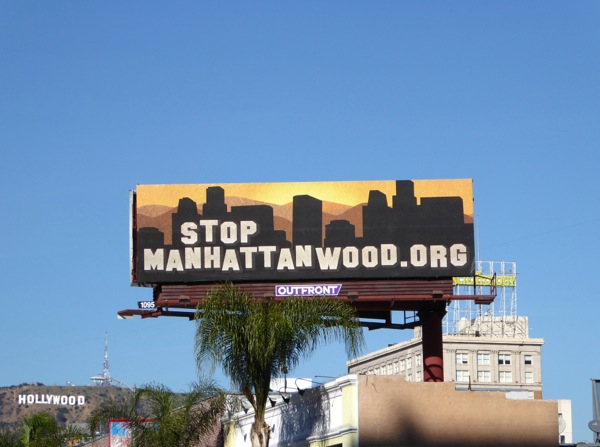 Stop Manhattanwood billboard