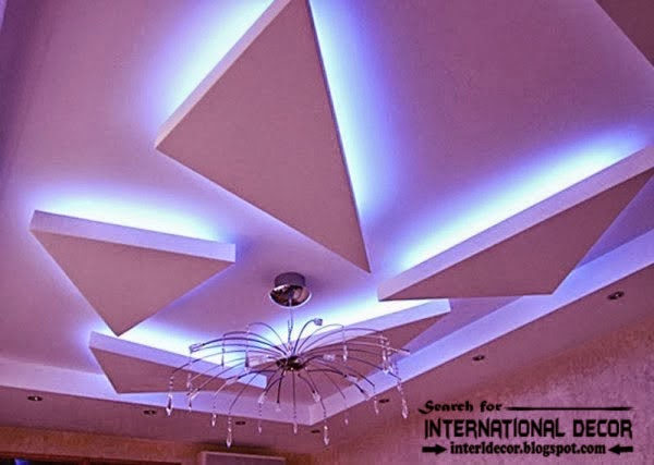 LED ceiling lights, LED strip lighting, false ceiling lighting, false ceiling pop design
