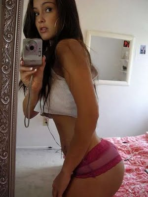 cute teen model. self photo shoot of hot girl