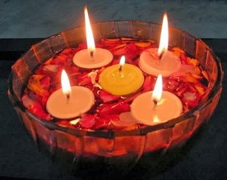 Bright ideas for diwali floating diyas decoration diwali for Decorations for diwali at home