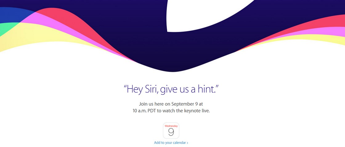 Conferência da Apple para 9 de setembro