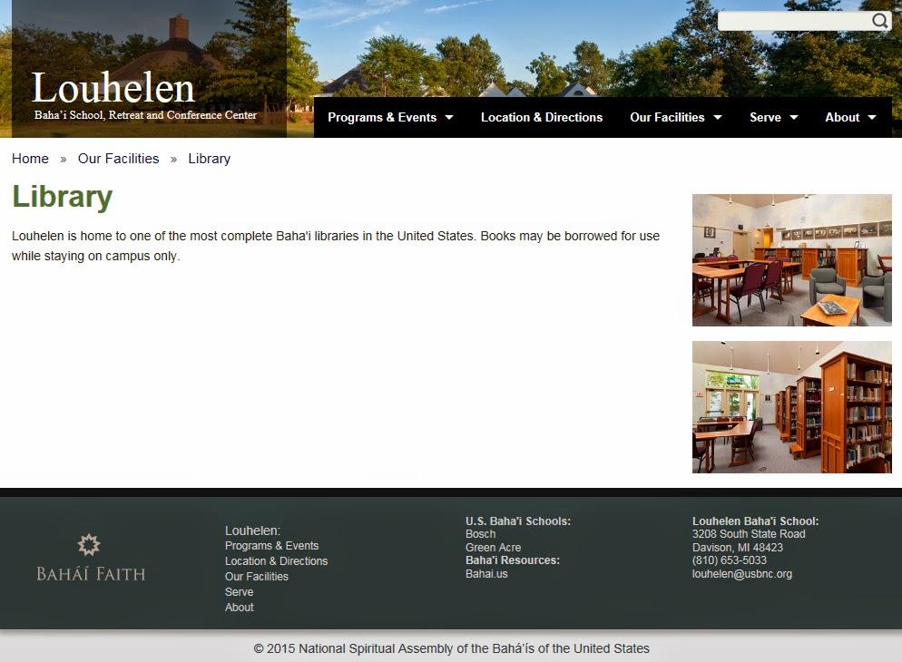 Веб-страница сайта школы бахаи Лухелен