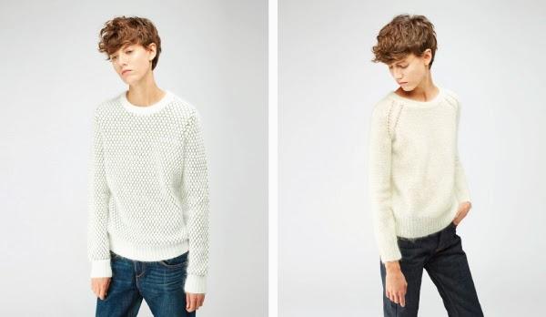 White sweater tomboy style