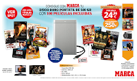Disco Duro 500 GB promoción Marca con 100 películas