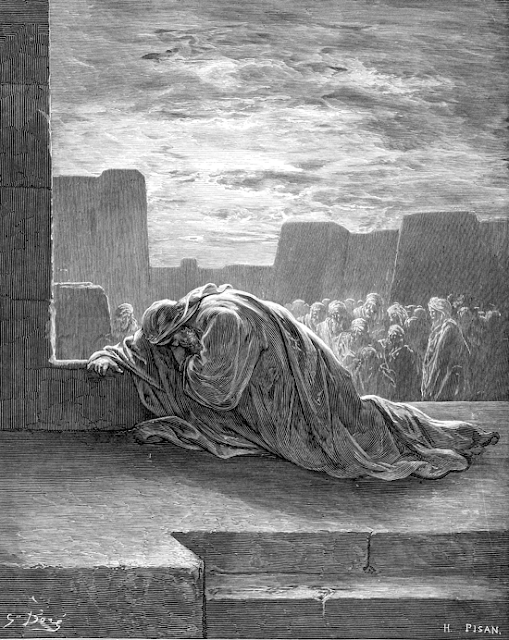Ezra in Prayer by Gustave Dore