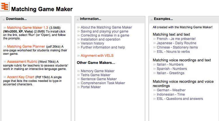 Matching Worksheet Maker : Download free vocabulary matching game maker backuppaper
