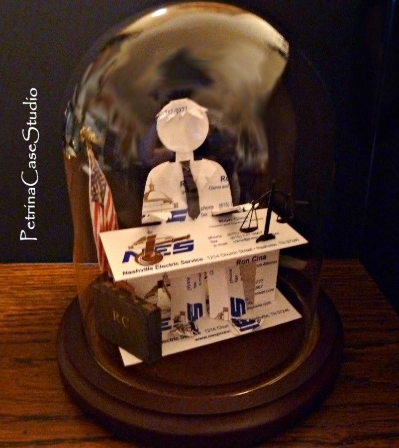 Petrina Case Studio: Lawyer Business Card Sculpture 8994