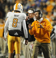 Derek Dooley uses life lessions when dealing with Tyler Bray.