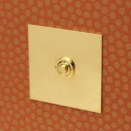 Forbes and Lomax 1GBELL/U button dimmer in unlacquered brass