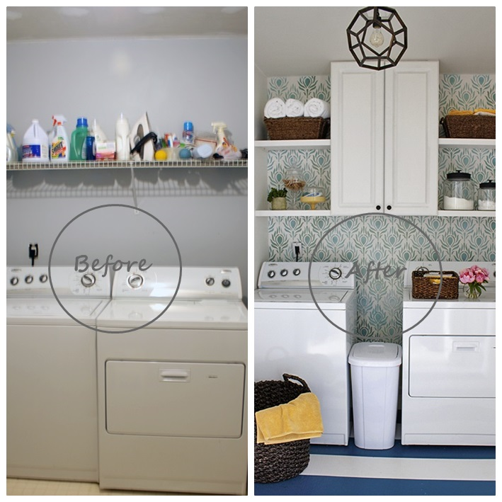 Before after laundry room cocochicdeco for Cuarto lavanderia