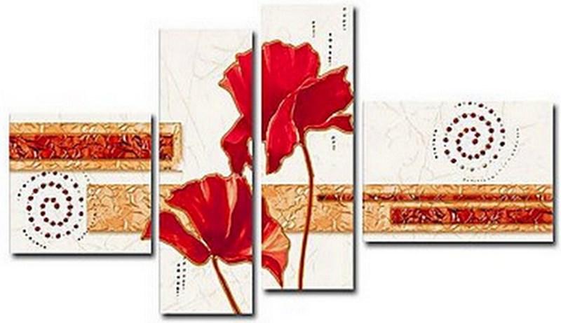 cuadros en parte o módulos pinturas para decoración de sala