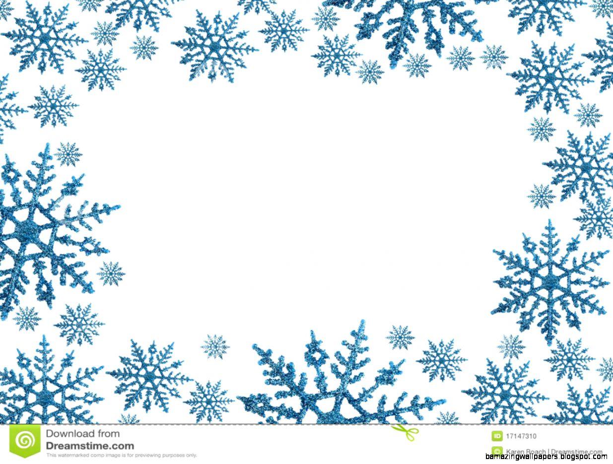 Snowflake Border Clipart   Clipart Kid