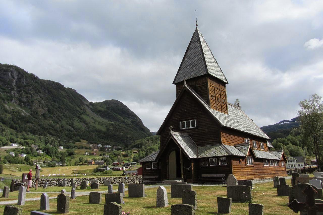 Noorwegen staafkerk Roldal