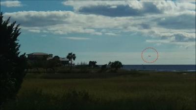 Dark UFO Caught Over Beach In Florida 2015, UFO Sightings