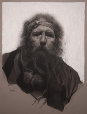 """Henry"" 20 in. x 30 in. / charcoal on toned paper /  201"