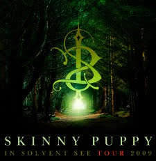 Supernatural poster for Skinny Puppy's 2009 In Solvent See tour.
