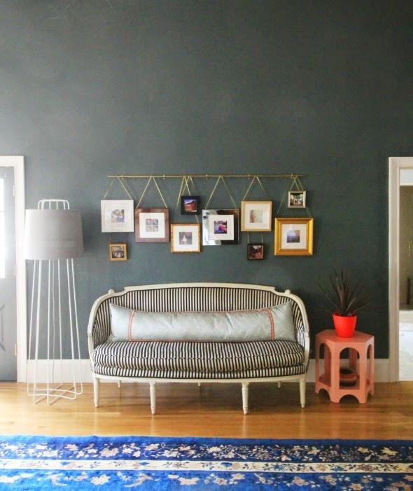 die-wohngalerie: flexible bildergalerie als wandgestaltung zum